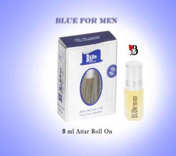 Al nuaim Blue for men Roll on Floral halal perfume 8ml - India