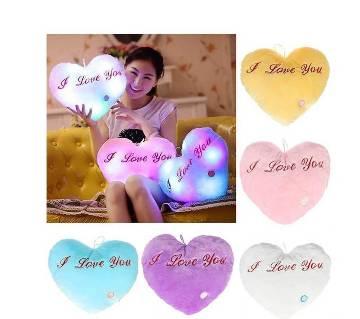 I Love You LED লাইটিং পিলো