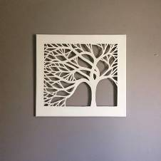 Wooden Calligraphy Decorative Wall Panel