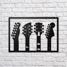 Wooden Decorative Wall Panel (Guitar/Music)