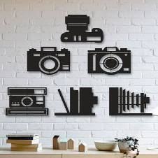 Wooden Decorative Wall Panel (6 Camera)