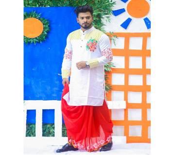 Dhupian Silk Panjabi With Dhuti