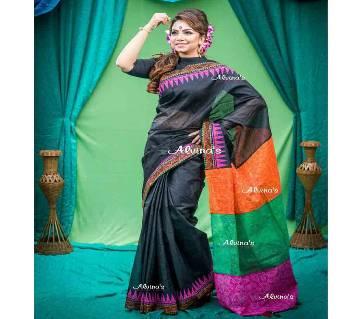 Boishaki Block Print Cotton Saree