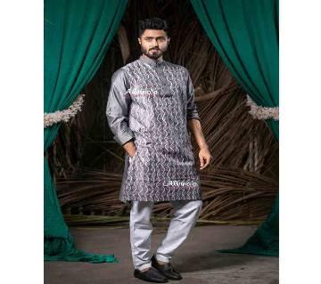 Exclusive Designer Dhupian Silk Panjabi For Man