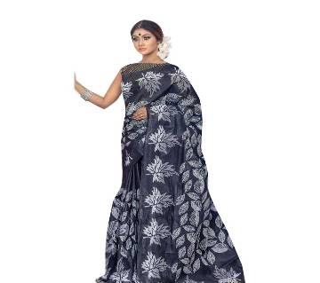 Black & White Cotton Saree