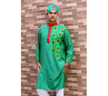 Dhupian Silk Block Punjabi