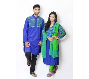 Punjabi and unstitched three pc combo