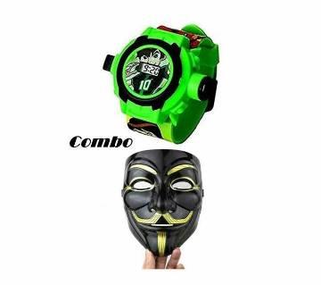 Combo Ben 10 Projector ওয়াচ & ভেনডাটা Mask