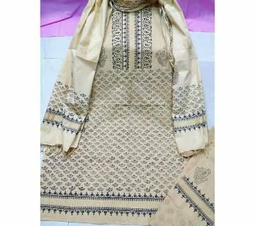 Unstitched Cotton Batik Printed Three-pcs