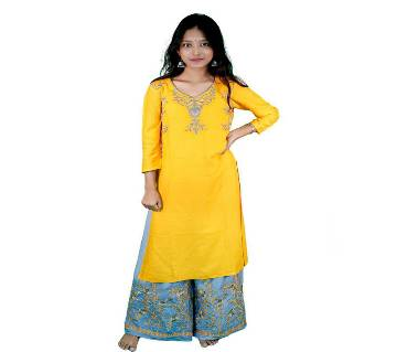 Unstitched Cotton Block Print Salwar Kameez For Women