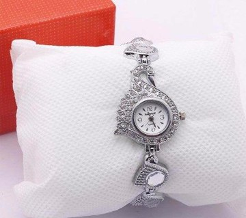 Peacock Watch for Women (White)
