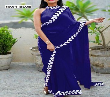 Georgette Saree for Women with Unstitch Blouse Piece