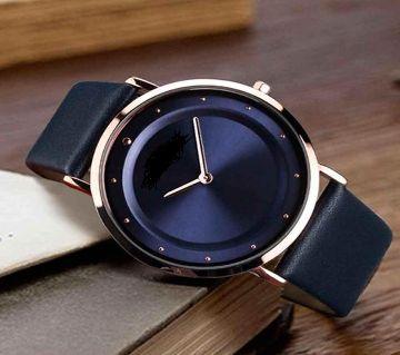 Pu Leather Analog Gents Watch-Navy Blue (Copy)