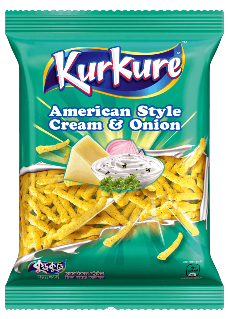 Kurkure American Style Cream & Onion Chips 45 gm
