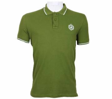 half sleeve solid color polo shirt for men