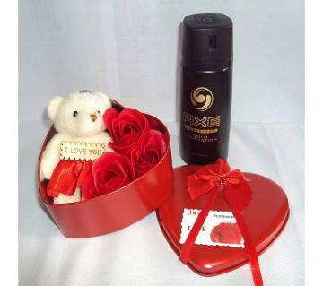 Valentine gift box and AXE body spray for men