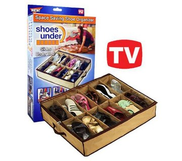 Shoes Under Space-shoe organizer