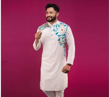 Indian Cotton Semi Long Punjabi