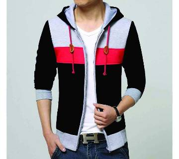 Gents Multi color cotton hoodie