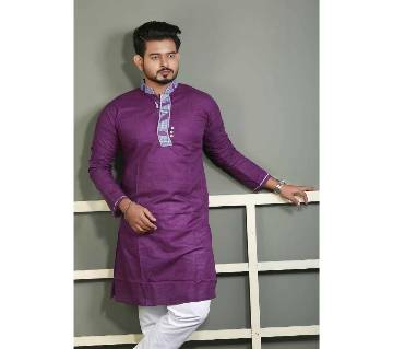 Mens cotton semi long punjabi