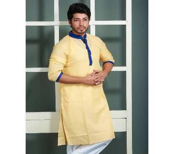 Silk Cotton Semi Long Panjabi