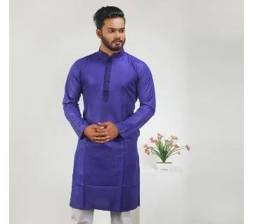 Silk Cotton Semi Long Punjabi
