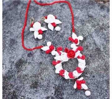 Boishakhi flower shaped necklace