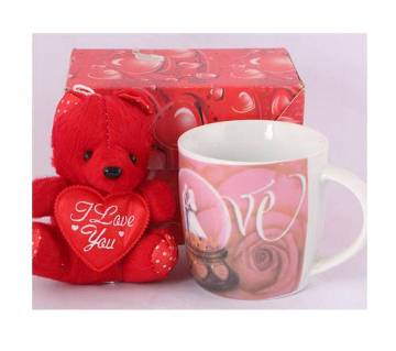 Love design ceramic mug with lid