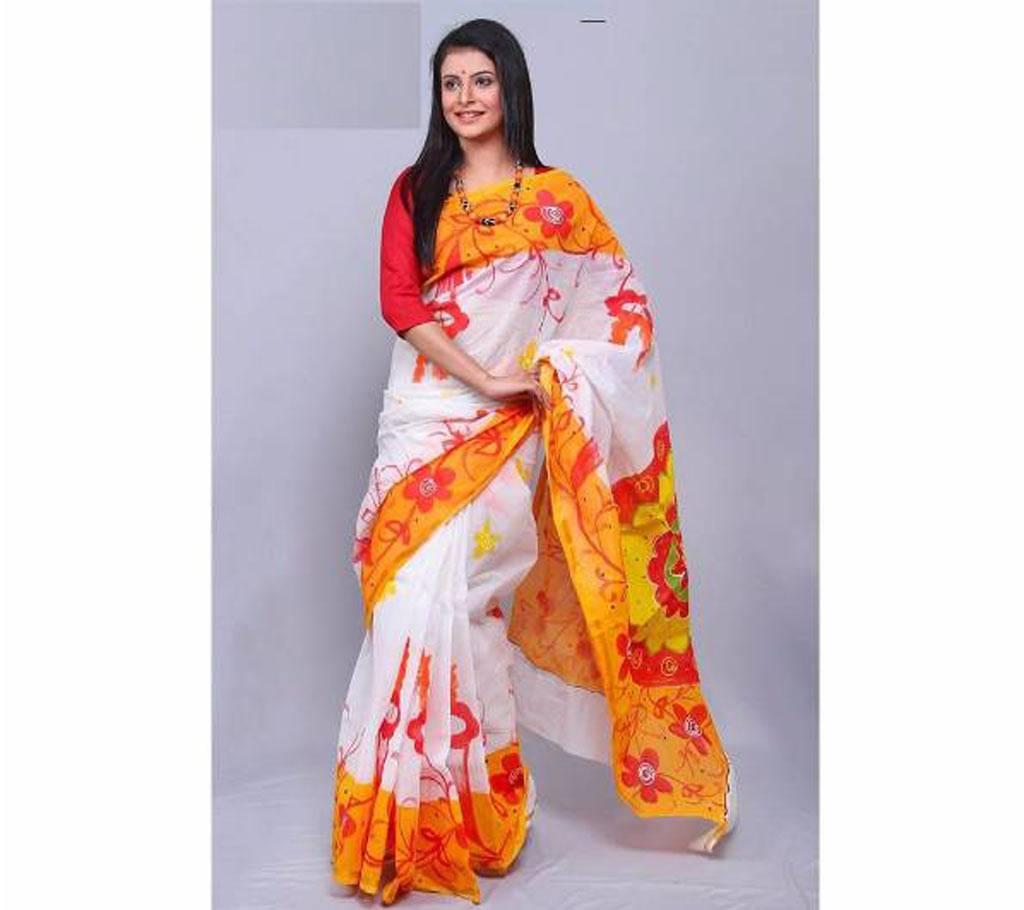 হ্যান্ড প্রিন্টেড কোটা কটন শাড়ি বাংলাদেশ - 614411