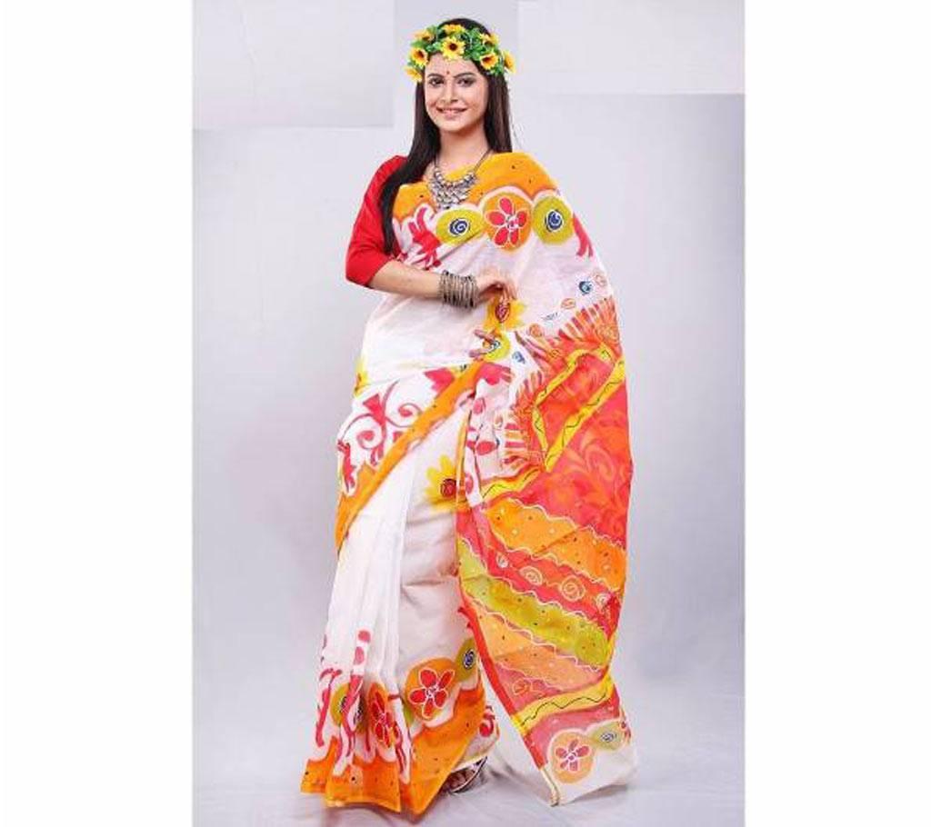 হ্যান্ড প্রিন্টেড কোটা কটন শাড়ি বাংলাদেশ - 614414