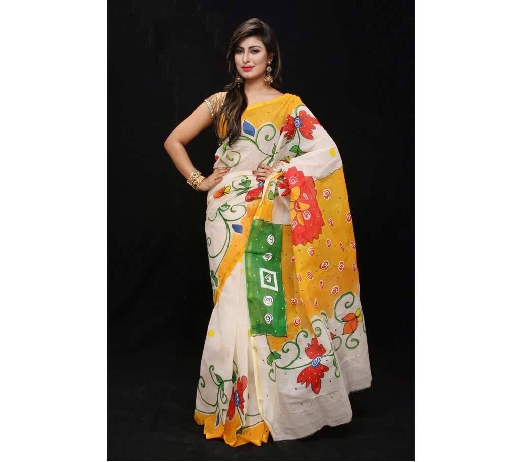 বৈশাখী কোটা হ্যান্ড প্রিন্টেড শাড়ি বাংলাদেশ - 444084