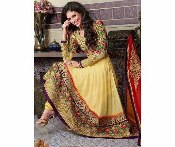 Semi-Stitched Georgette Long Three Piece