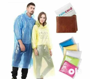 Pocket Rain Card রেইন কোট - ১টি (Moneybag Raincoat)