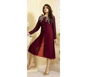 semi stitched Georgette kurti- replica