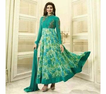 Un stitched soft Georgette embroidery long suit