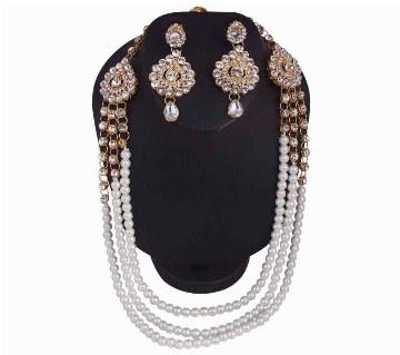 boishakhi artificial pearl necklace set