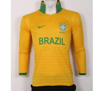 world cup Brazil home sleeve jersey copy