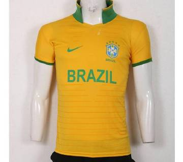 world cup Brazil home short sleeve Jersey 2018
