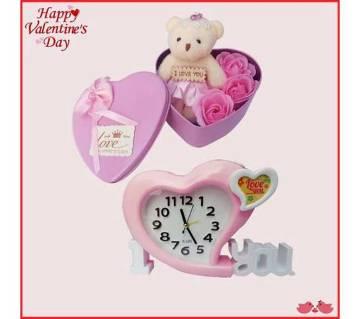 sweet love alarm clock and gift box combo