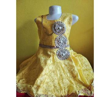 Eid collection indian golden party dress