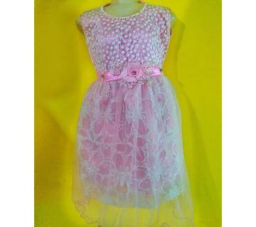 Eid collection indian kids party Pink  dress