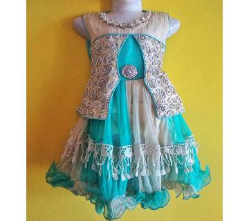 Eid collection kids exclusive design party dress