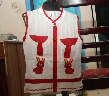 Embroidered fotua with pant for kids