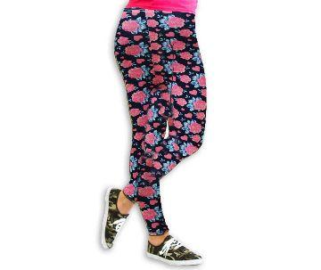 Pink Printed Cotton Leggings