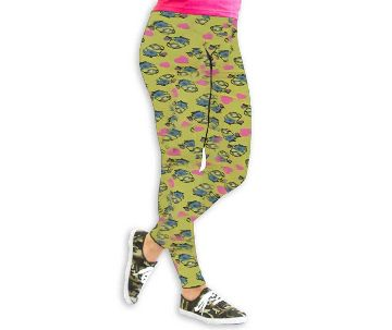 printed cotton leggings - Green