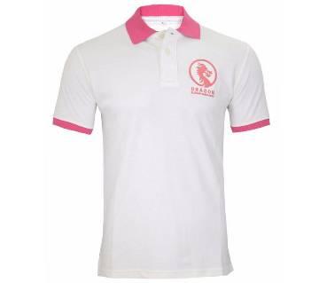Dragon printed polo shirt for men