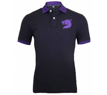 Dragon printed polo shirt for men