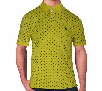 gents half sleeve printed polo shirt