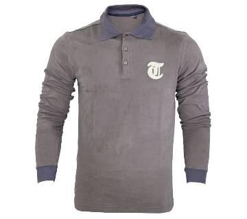 Gents full sleeve viscose polo shirt