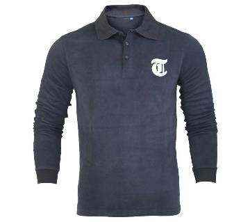 Gents full sleeve viscose polo shirt